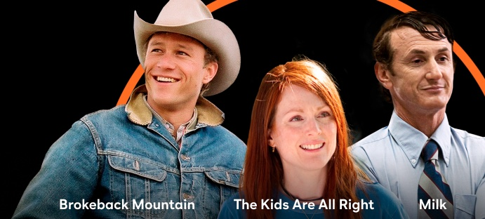 Brokeback Mountain, The Kids Are All Right, Milk Image