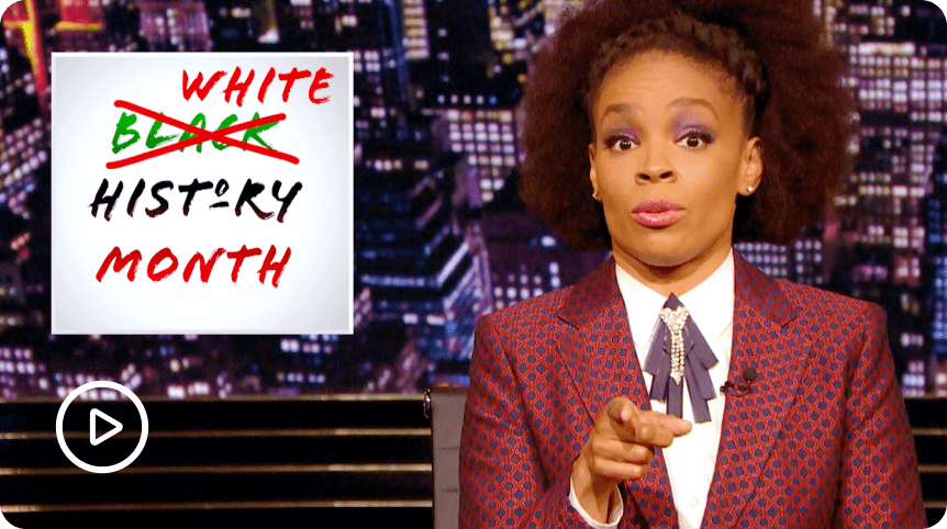 The Amber Ruffin Show White History Month Sketch