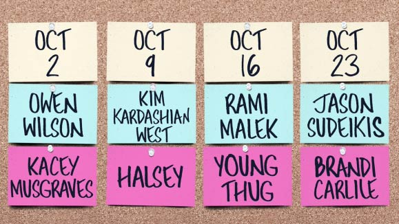 October SNL Hosts and Musical Guests