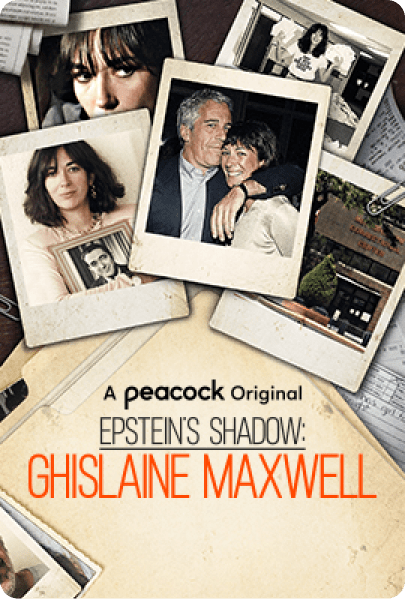 Epstein's Shadow: Ghislaine Maxwell Vertical Art